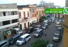 Taxis informales toman impunemente calle del Cercado de Lima