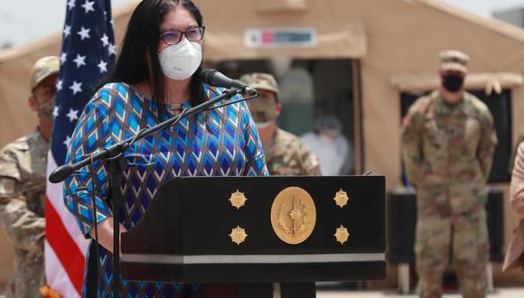 Nuria Esparch destacó el trabajo de las Fuerzas Armadas. (Foto: Andina)