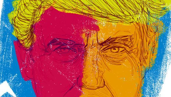 """""""Trump sabía sobre la letalidad del coronavirus desde el principio –lo admitió en una entrevista grabada en febrero–, pero decidió mentirle al pueblo estadounidense por temor a que la pandemia arruinara sus posibilidades electorales"""". (Ilustración: Giovanni Tazza)."""