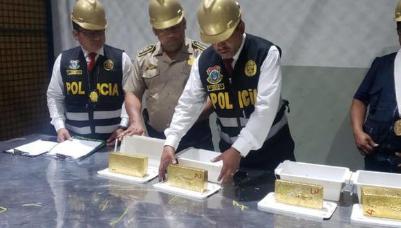 Oro incautado durante megaoperativo. Foto: PNP Medio Ambiente.