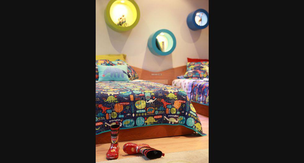 Ana María Villanueva usa tonos neutros en las paredes para combinar con los cubrecamas. (Foto: Jaime Gianella)