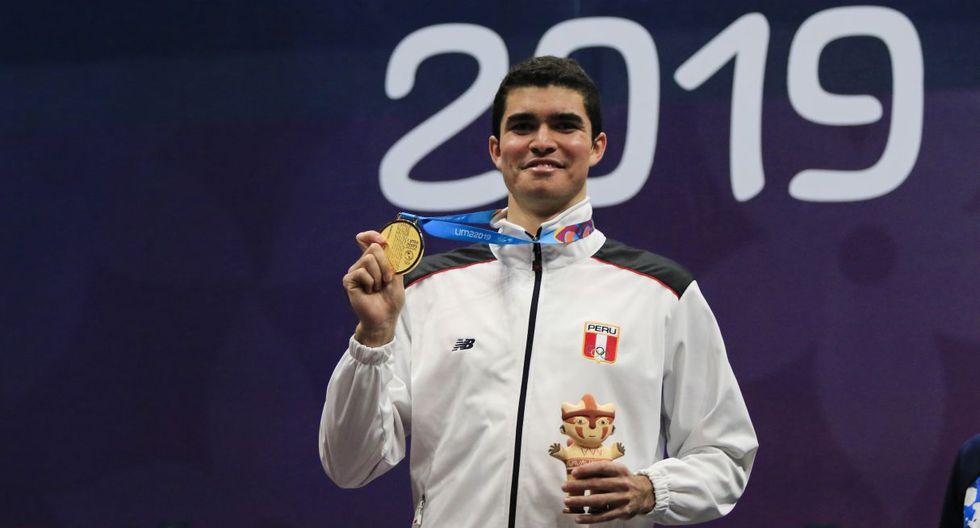 Diego Elías, ganador en squash. (Sebastian Castañeda / Lima 2019)