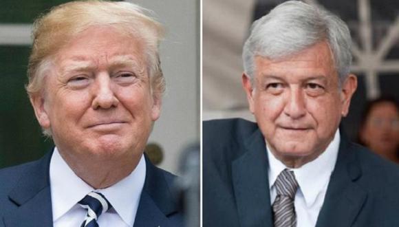 Donald Trump, presidente de Estados Unidos, y Andrés Manuel López Obrador, candidato a la presidencia de Mèxico.