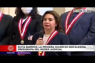 Elvia Barrios es la primera mujer en ser elegida presidenta del Poder Judicial