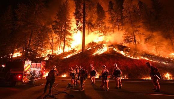 Los incendios en California fueron de los más severos en los últimos años. Foto: Getty images, vía BBC Mundo