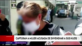 Junín: capturan a mujer que envenenó ebria a sus hijos