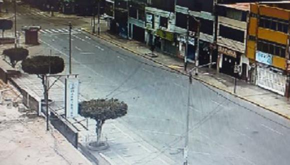 Las calles de Chimbote (Áncash) lucieron vacías en su último domingo de inmovilización social | Foto: Andina