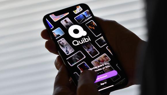 Interfaz visual de Quibi, servicio de streaming que buscó ofrecer algo distinto; pero que resultó ser un fracaso. (Foto: AFP/Chris Delmas)