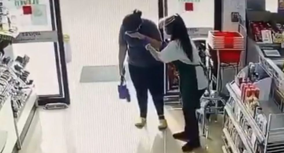 El video de lo ocurrido circula en Facebook.