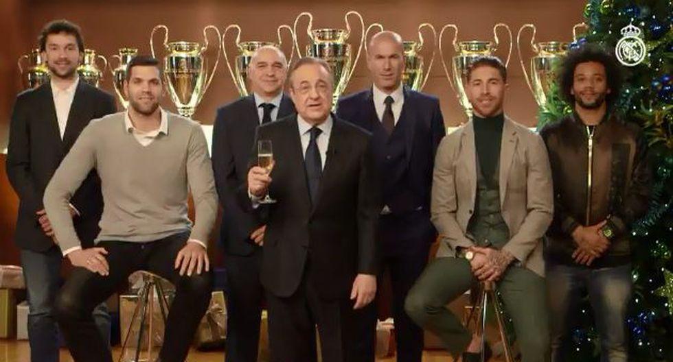 Real Madrid: Florentino 'orgulloso' en saludo navideño pese a caída ante Barcelona. (Foto: Captura de video Real Madrid)