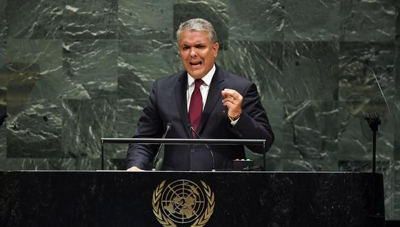 Duque denuncia en la ONU que Venezuela forma parte de la cadena de terrorismo. (AFP)