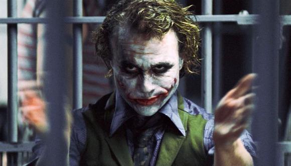 """Heath Ledger como el Joker en """"El caballero oscuro"""". (Foto: Warner)"""