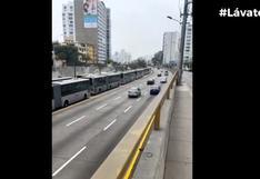 Metropolitano: bus se malogró en estación Plaza de Flores y genera congestión en la ruta