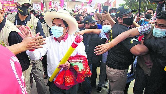 Castillo realizó mítines en Santa Eulalia, Chosica y Huaycán el martes pasado. Este miércoles visitaría Villa El Salvador y SJL. (Foto: Felix Ingaruca / GEC)