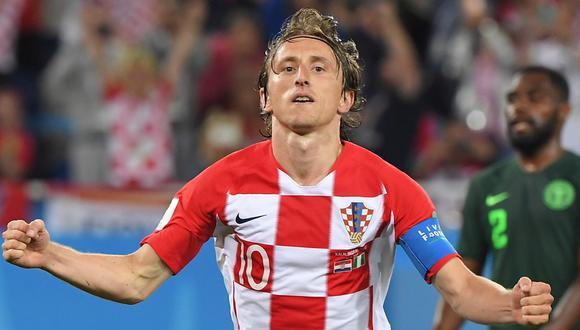 Luka Modric marcó el 2-0 a favor de Croacia sobre Nigeria en el Mundial Rusia 2018. (Fuente: FIFA - Autor: DirecTV / Foto: AFP).