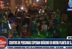SJL: decenas de personas forman largas colas para recargar oxígeno en nueva planta de hospital Sisol