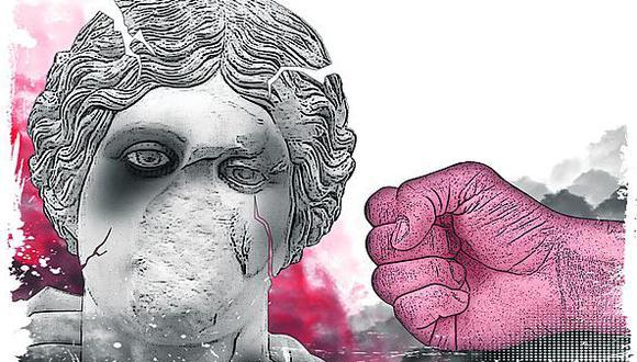 """""""La lucha contra la violencia de género"""". (Ilustración: Rolando Pinillos Romero)"""