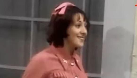 """Cándida apareció por primera vez en """"El Chavo del 8"""" en 1974, en el capítulo llamado """"El alumno más inteligente"""" (Foto: captura de pantalla/ YouTube)"""