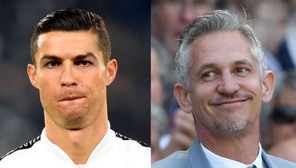 Gary Lineker molesto con Cristiano Ronaldo. (Fotos: Agencias)
