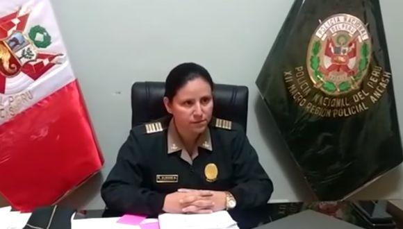 Alegre Botano es la segunda oficial en administrar una dependencia policial en la región Áncash. (Foto: cortesía)