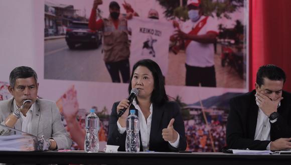 Fuerza Popular indicó que presentará un recurso de hábeas data por la segunda vuelta electoral. (Foto: Leandro Britto / @photo.gec)
