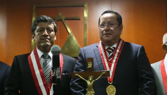 En febrero del 2016, Luis Arce Córdova juró como fiscal supremo del Ministerio Público ante el ex Consejo Nacional de la Magistratura. (FOTOS: MIGUEL BELLIDO/EL COMERCIO)