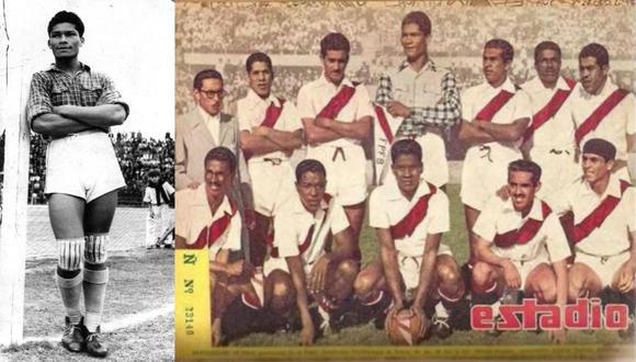Walter Ormeño: el arquero peruano que atajaba con camisas a cuadros, apostaba con Di Stéfano y fue el primer Superman. La imagen corresponder a 1949. FOTOS: Archivo Histórico GEC.