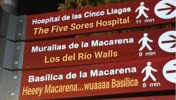 La mala traducción de estos lugares generó reacciones en Twitter. (Foto: Twitter)