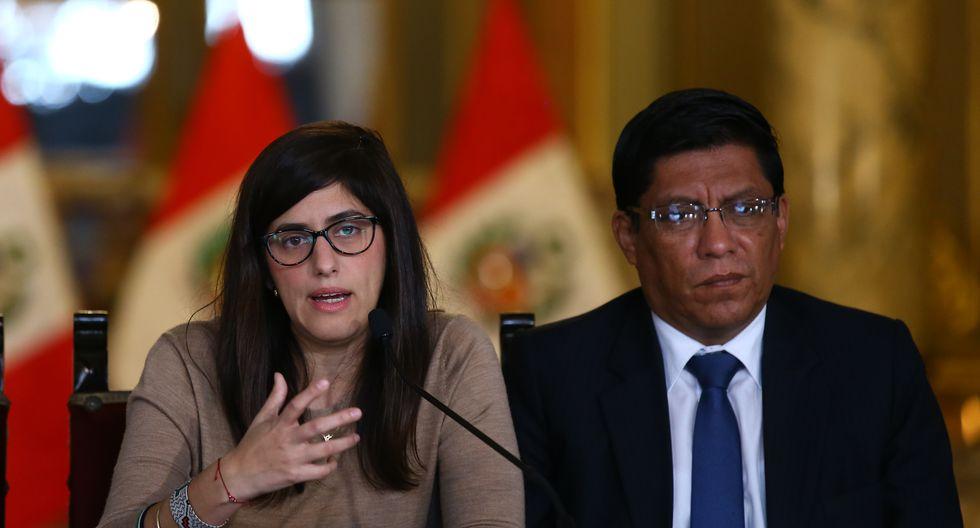 Primer ministro Vicente Zeballos se solidarizó titular de Economía María Antonieta Alva (Foto: GEC)