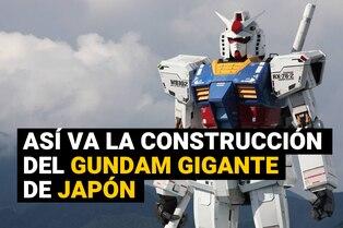 Gundam: Robot gigante de popular serie japonesa da sus primeros movimientos