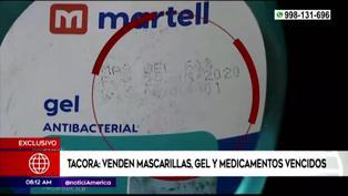 Tacora: venta de mascarillas, gel y medicamentos vencidos