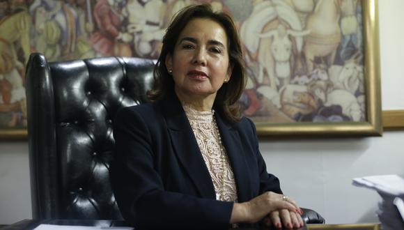 """""""Tiene que ser una propuesta materia de una profunda evaluación del impacto que puede tener en el sistema de justicia"""", expresó presidenta del Poder Judicial, Elvia Barrios. (Foto: Luis Centurión/GEC)"""