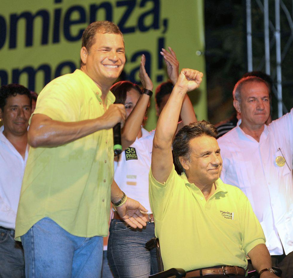 En el 2009, Correa se presentó a la reelección y mantuvo a Moreno en su fórmula presidencial. (AFP)
