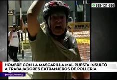 San Luis: hombre sin mascarilla agrede a trabajadores de una pollería y rompe instalaciones