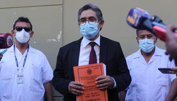 El fiscal José Domingo Pérez presentó este jueves la acusación contra Keiko Fujimori. (Foto: Lino Chipana/ El Comercio)