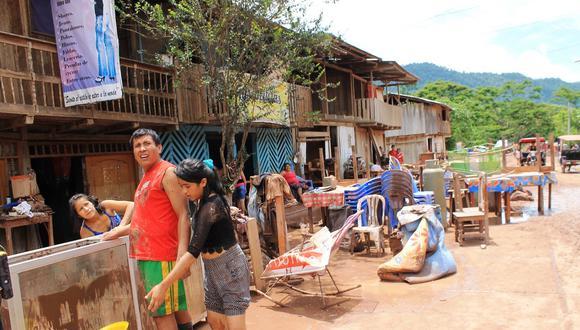 Las familias afectadas en Shamboyacu. (Foto: Hugo Anteparra)