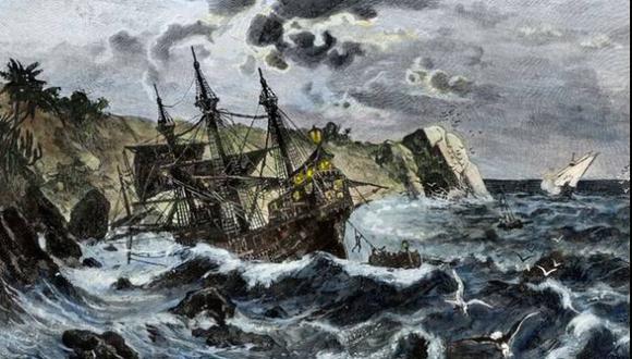 Hallan posibles restos de la Santa María de Cristóbal Colón