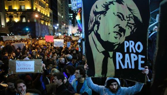 EE.UU.: Protestas en 10 ciudades contra la elección de Trump