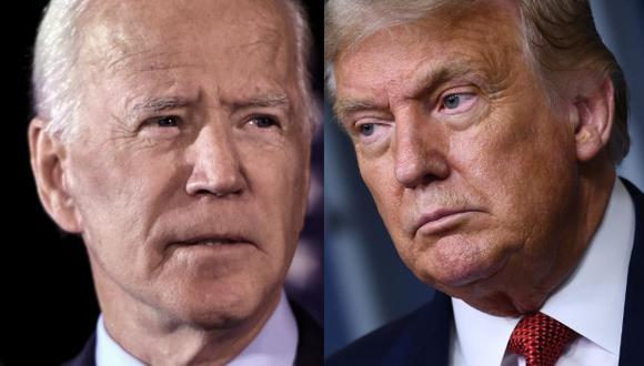 El candidato demócrata a la Casa Blanca, Joe Biden, aventaja ampliamente al presidente republicano, Donald Trump, en la intención de voto de los hispanos para las elecciones del 3 de noviembre en Estados Unidos. (AFP).