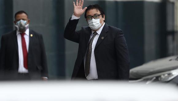Richard Swing llega al Congreso para responder ante la Comisión de Fiscalización. (Foto: Joel Alonzo/ GEC)