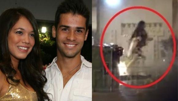 """""""Magaly TV: La Firme"""" captó a Jazmín Pinedo en el edificio donde vive su ex Jesús Neyra. (Foto: GEC/ATV)"""