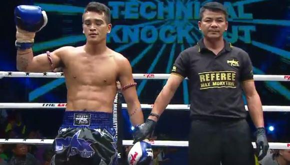 Young debutó con éxito en Tailandia, meca del muay thai. (Captura: Max Muay Thai)