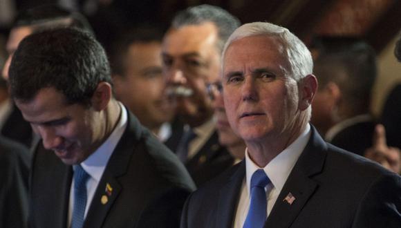 """Mike Pence en el Grupo de Lima en Bogotá: Estados Unidos tiene """"todas las opciones"""" abiertas frente a Nicolás Maduro. (AFP)."""