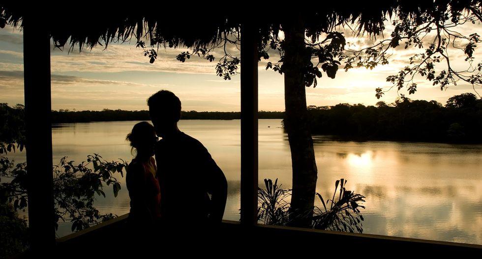 El lago Sandoval, en Tambopata, tiene forma de media luna. (Foto: Shutterstock)