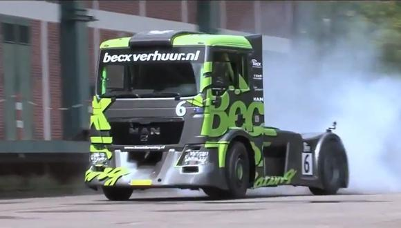 El camión de la marca MAN alcanza una velocidad máxima de 215 km/h. (Video: YouTube)