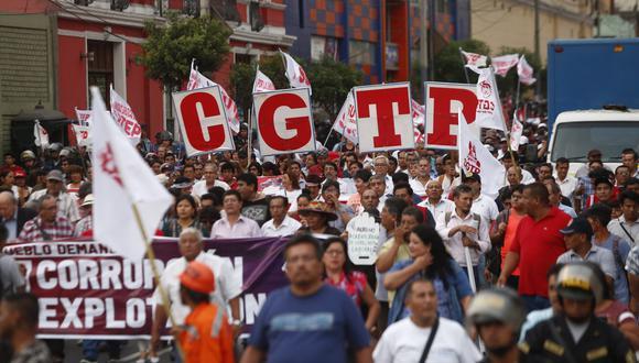 """""""Comunicamos que se ha decidido ratificar la suspensión de nuestra participación en todo tipo de convocatoria del gobierno"""", afirmaron las centrales sindicales. (Foto: GEC)"""