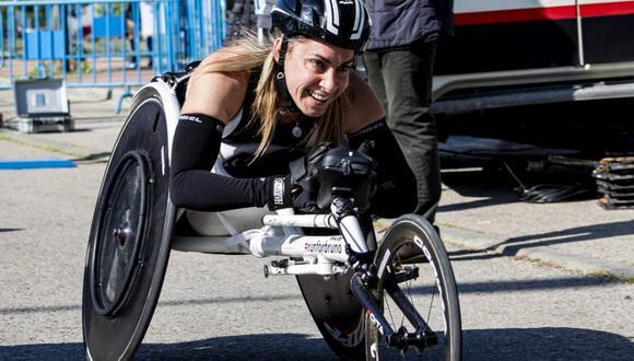 La atleta paralímpica Carmen Giménez. (Foto: Instagram punkphoetry | Sonia Bustos)
