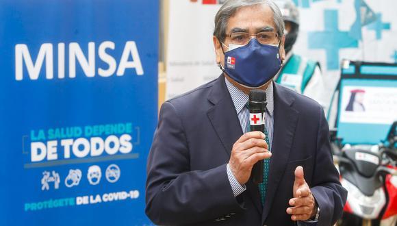El ministro de Salud, Óscar Ugarte, aseguró que el Gobierno de Transición y Emergencia seguirá trabajando en la lucha contra la pandemia del COVID-19 hasta el último día de gestión. (Foto: Andina)