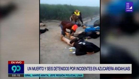 Se incautaron tres armas. Además, dos personas heridas de bala fueron trasladados a la clínica San Pedro de Huacho. (Captura: Latina)