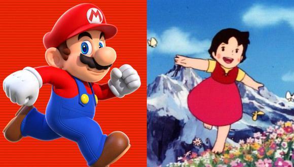 Super Mario y Heidi. (Captura de pantalla)